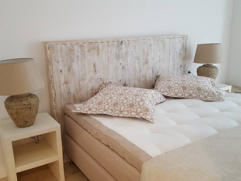 handmade headboard old white
